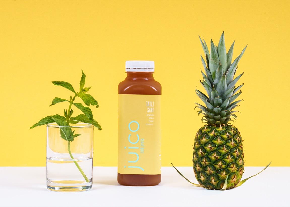 Juico Tatlı Sarı - Ananaslı Detox Suyu